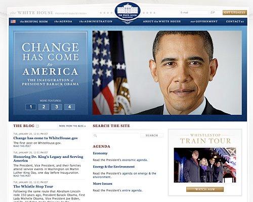 New whitehouse.gov look