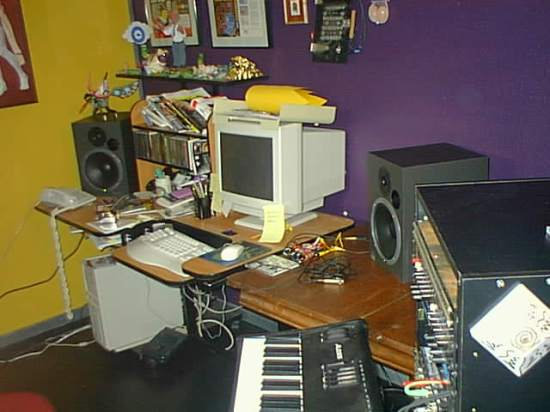 The Old Zilch Spacecasting Network Studio before the fire.